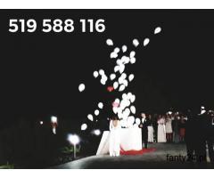Balony ledowe z helem brama z balonów balony z helem led hel ledowe